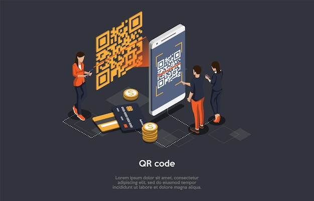 Isometric qr code verification concept