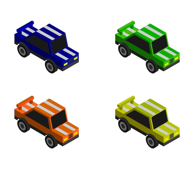 等尺性レースカーセット