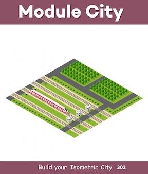 Isometric rail transport