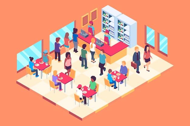 Isometric restaurant concept