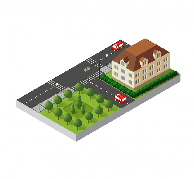 Isometric retro 3d