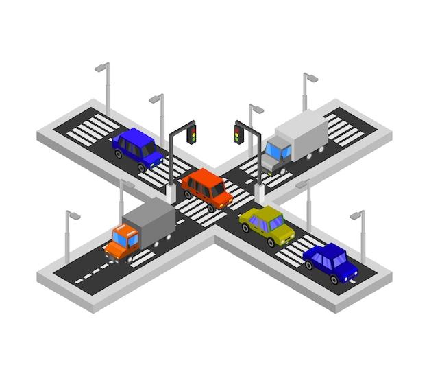 Isometric road junction