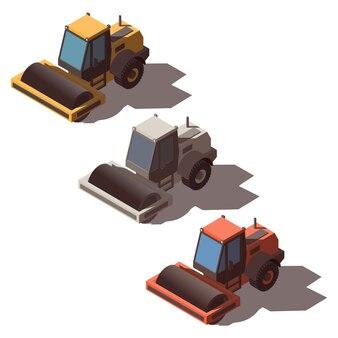 Isometric road roller