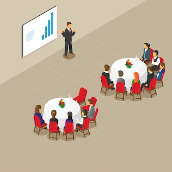 아이소 메트릭 라운드 테이블 회의 설정