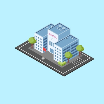 Isometric school building