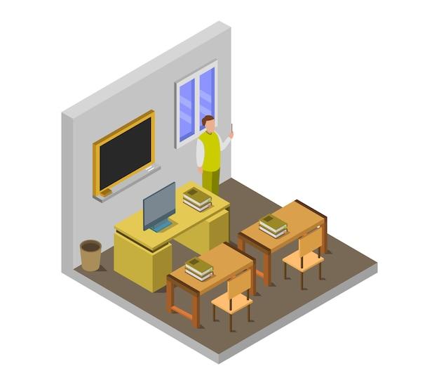 Isometric school room