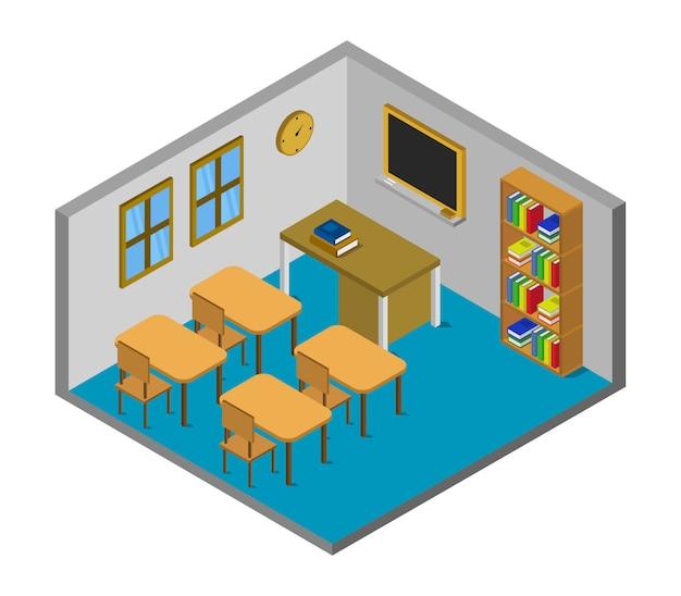 等尺性の学校の部屋