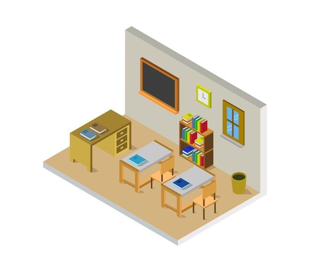 Aula scolastica isometrica