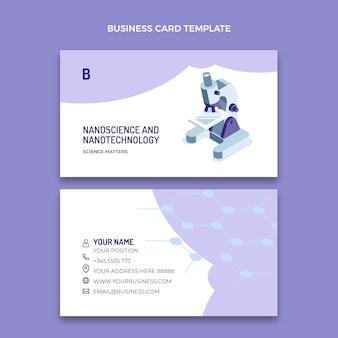 Изометрическая наука горизонтальная визитная карточка