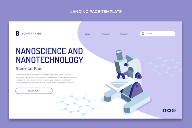 Isometric science landing page