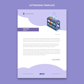 Isometric science letterhead