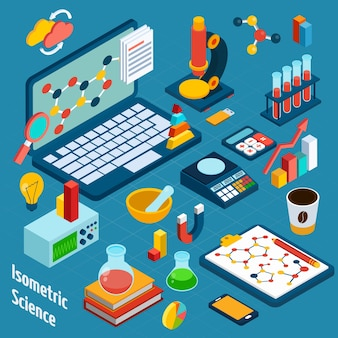 Isometric Science Workplace