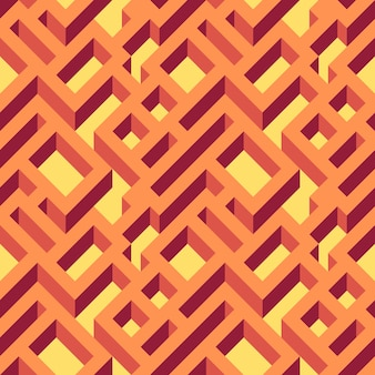 Isometric seamless maze pattern. abstract endless ornament texture.geometrical abstract background.