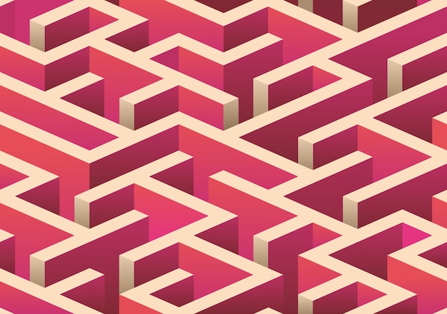 等尺性シームレス迷路パターン。
