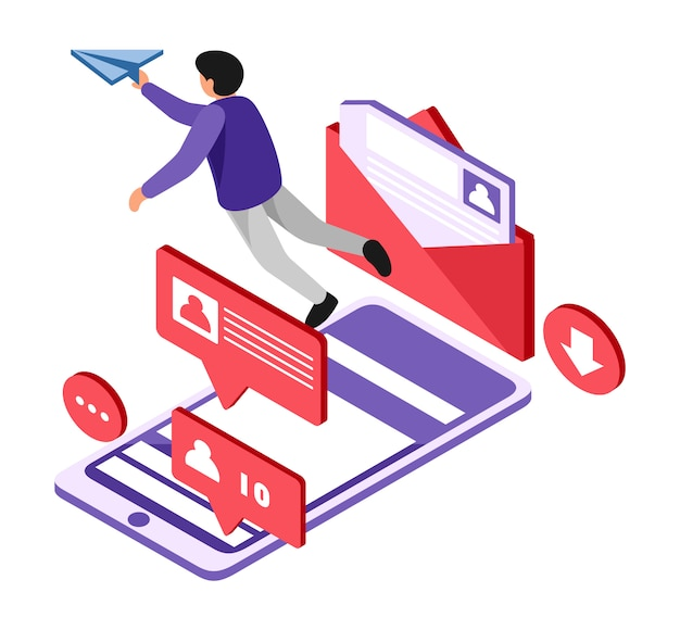 Isometric send mail online