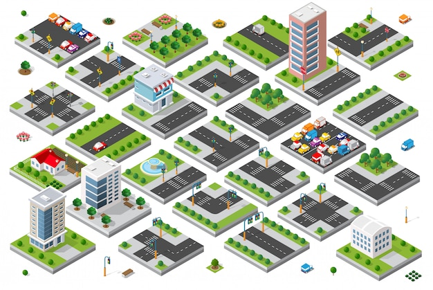 Isometric set 3d module