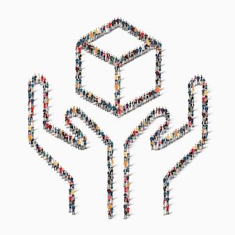 Isometric set of hands styles