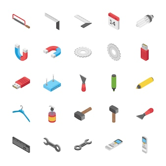 Isometric set of objects