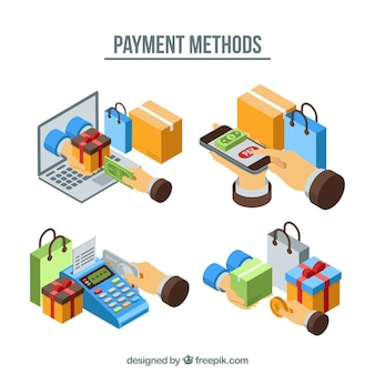支払方法の等尺性セット