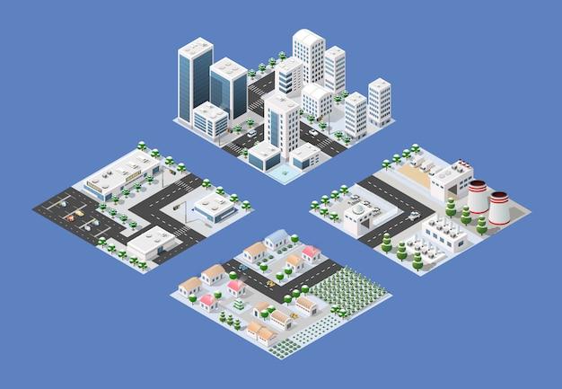 現代都市の等尺性集合