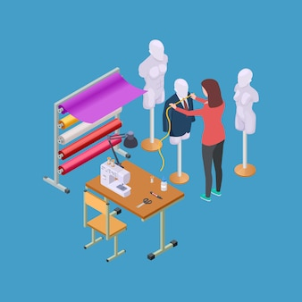 Isometric sewing workshop