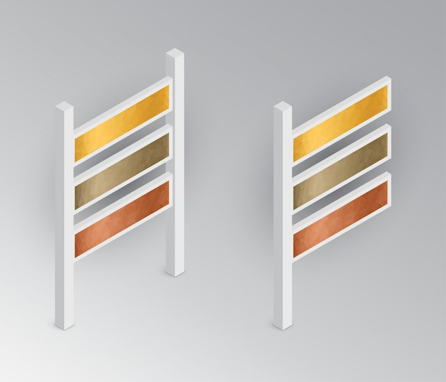 Isometric signboards