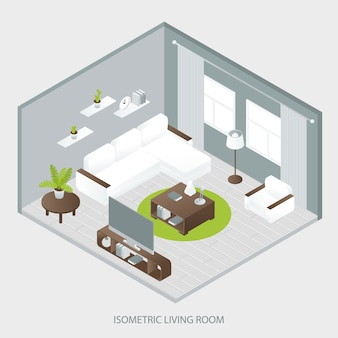 Isometric sitting room