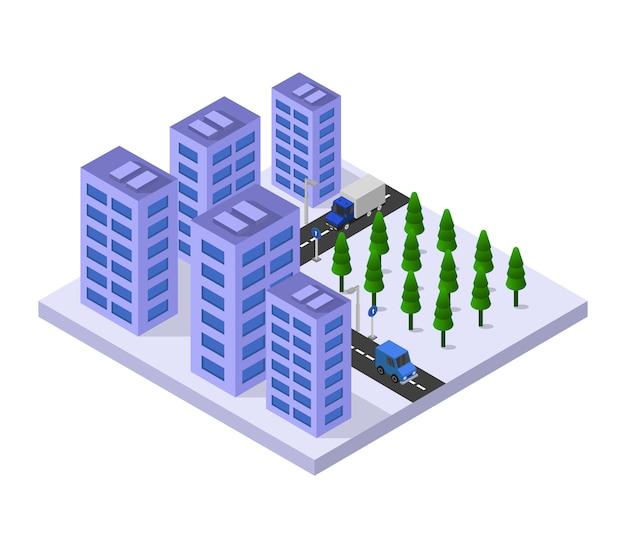 아이소 메트릭 고층 빌딩