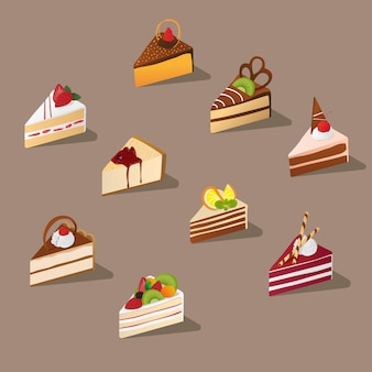Isometric sliced cake