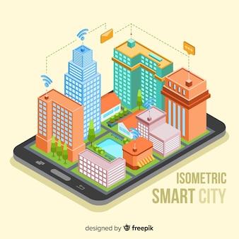 Isometric smart city background