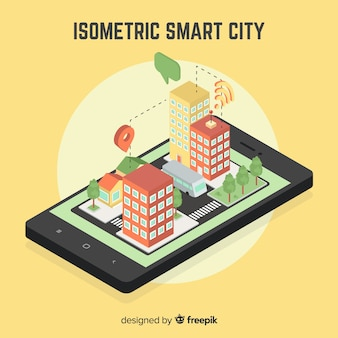 Isometric smart city illustration