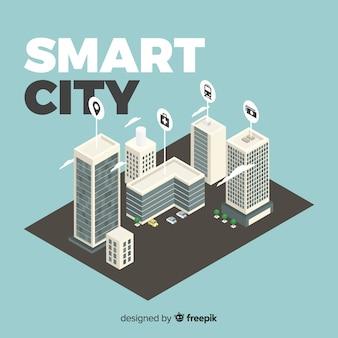 Smart city isometrica