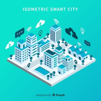 Isometric smart city