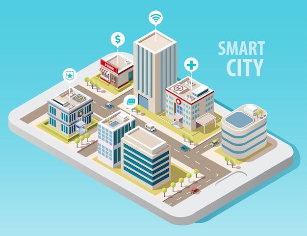 Изометрические умный город