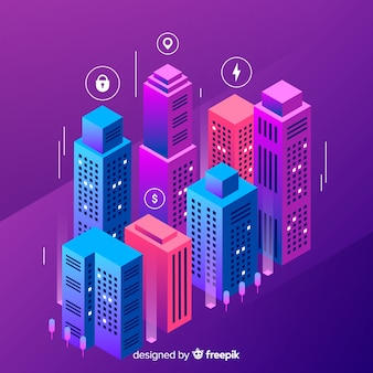 Isometric smart city
