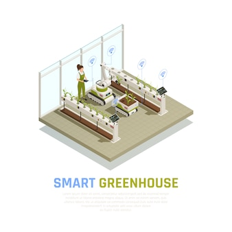 Isometric smart greenhouse