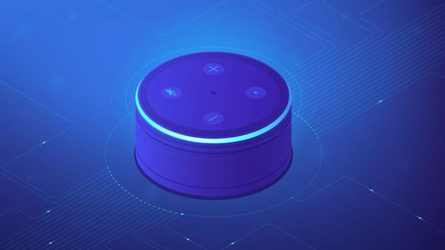 Isometric smart home controller illustration