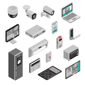 Isometric smart home set