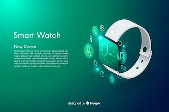 Isometric smarth watch background