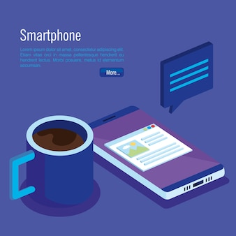 Isometric smartphone digital technology