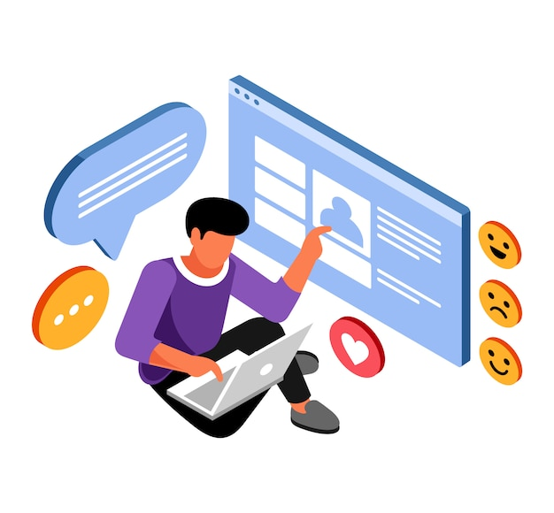 Isometric social media addictive
