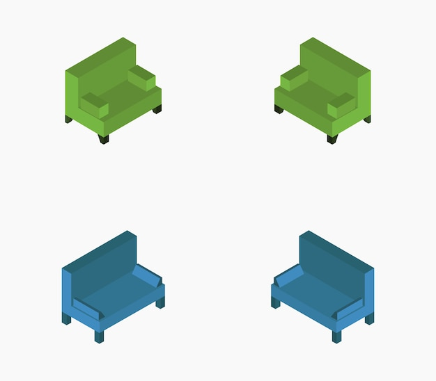 Isometric sofa