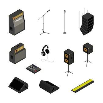Isometric sound system icons