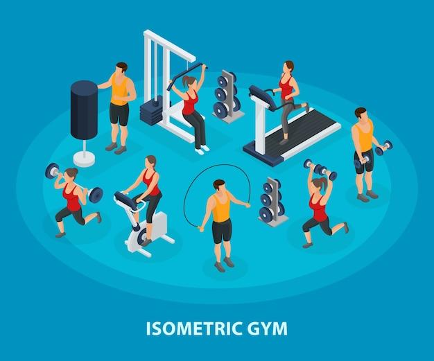 等尺性スポーツと健康的なライフスタイルのコンセプト