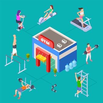 Isometric sport club concept