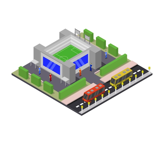 Isometric stadium