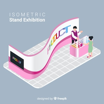 Isometric stand exhibition concept