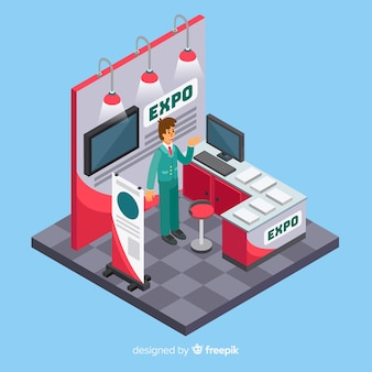 Isometric stand exhibition design