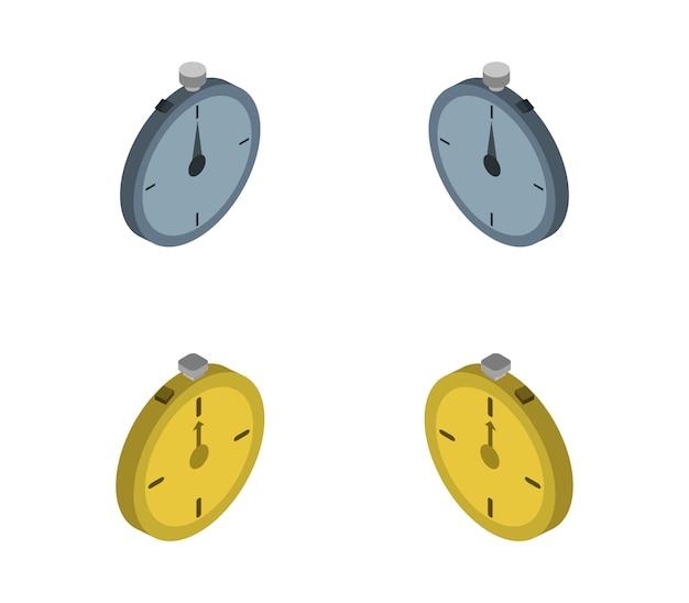 Isometric stop watch set