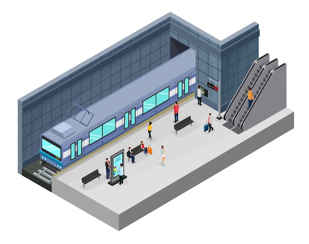 Isometric subway station concept